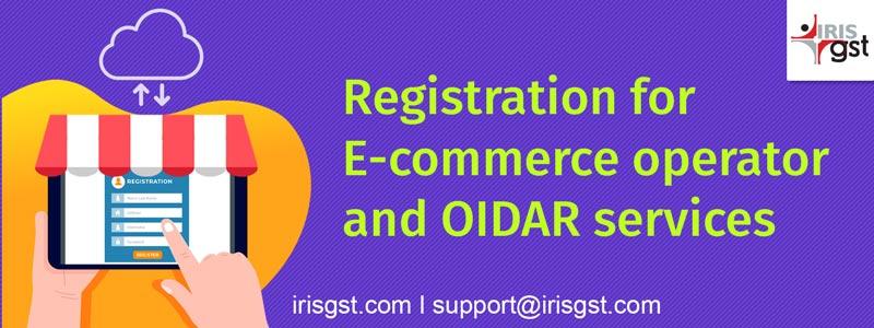 Registration for E-commerce operator