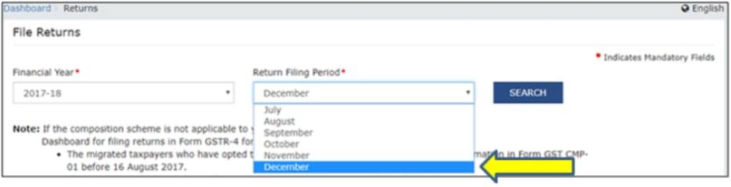 How to reset GSTR3B File Return