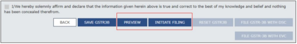 How to reset GSTR3B Additional Faculty