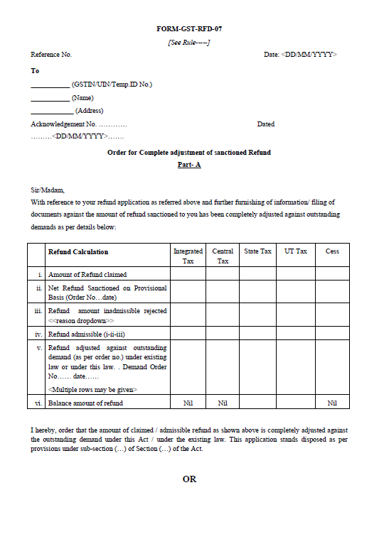 Form-GST-RFD-07